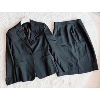 アオキ(AOKI)のLes Mues スカートスーツ上下(テーラードジャケット)