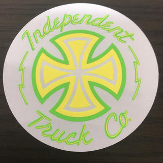 インディペンデント(INDEPENDENT)の【直径10.2cm】independent ステッカー(スケートボード)