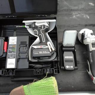 パナソニック(Panasonic)のPanasonic インパクトドライバー グラインダー LED 3点セット(工具)