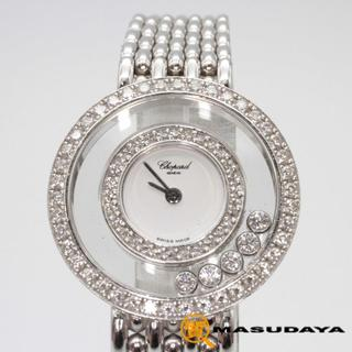 ショパール(Chopard)のショパールハッピーダイヤモンドK18WG【美品】(腕時計)