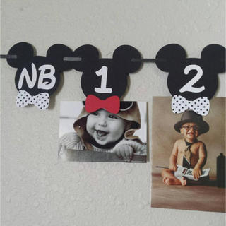 ディズニー(Disney)のミッキーの写真飾り ガーランド(ガーランド)