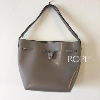 ロペ(ROPE)のロペ レザートートバッグ グレー(トートバッグ)