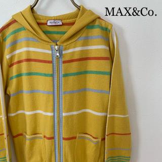 マックスアンドコー(Max & Co.)の【MAX&Co.】ニットパーカー Sサイズ イエロー(パーカー)