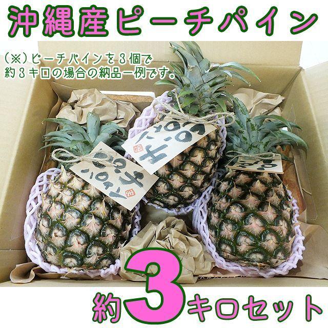 【送料込】沖縄県八重山産ピーチパイン約3キロ|桃のような香りと甘さがGOOD! 食品/飲料/酒の食品(フルーツ)の商品写真