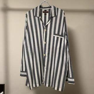セリーヌ(celine)のALEXANDER OLCH 17SS オープンカラー シャツ ストライプ 美品(シャツ)