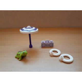 レゴ(Lego)のレゴ ●ラジカセ パラソル カメ 浮き輪 5点セット●海水浴 海 ビーチ●美品(その他)