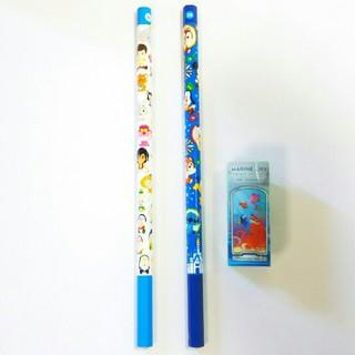 ディズニー(Disney)のディズニーランド 鉛筆 2本 セット 2B カドケシ シーライダー ディズニーシ(鉛筆)
