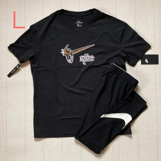 ナイキ(NIKE)のL ☆ Tシャツ レギンス セット NIKE レディース 新品 ヨガ  (Tシャツ(半袖/袖なし))