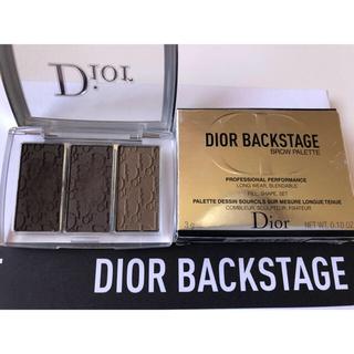 ディオール(Dior)の◇美品◇Dior ディオール バックステージ ブロウ パレット 002 ダーク(パウダーアイブロウ)