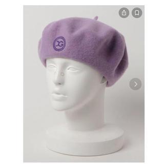 エックスガール(X-girl)のX-girl ベレー帽 パープル(ハンチング/ベレー帽)