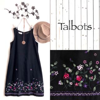 TALBOTS - Talbotsお花刺繍ワンピース*SM2ニコアンドstudio clip好きにも
