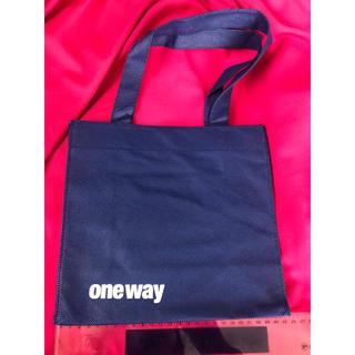ワンウェイ(one*way)のONE WAY ワンウェイ ショップ袋 ショ袋 ショッパー 青 ポケット付き(ショップ袋)