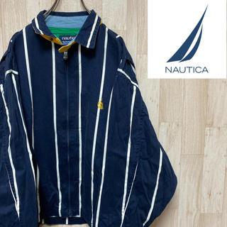 ノーティカ(NAUTICA)の【ノーティカ】セーリングジャケット*ワンポイント刺繍ロゴ*ストライプ(ブルゾン)