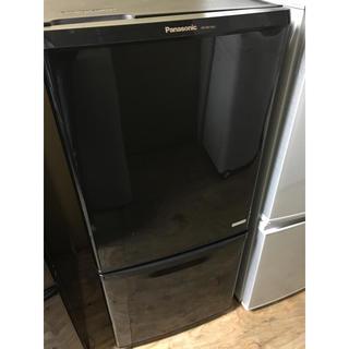 パナソニック(Panasonic)の大人気パナソニックブラック2ドア140L冷蔵庫!大阪、大阪近郊送料無料!(冷蔵庫)