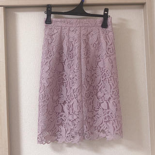 プロポーションボディドレッシング(PROPORTION BODY DRESSING)のリーフハートケミカルレーススカート(ひざ丈スカート)