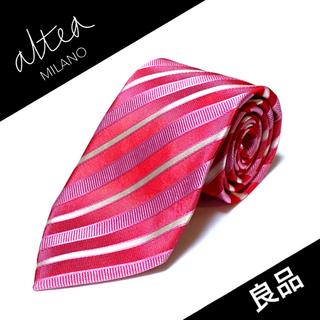 アルテア(ALTEA)の【美品】Altea ネクタイ イタリア製 ストライプ柄(ネクタイ)