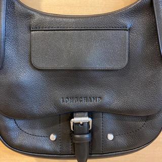 ロンシャン(LONGCHAMP)のLONGCHAMP 本革 黒 ショルダーバッグ(ショルダーバッグ)