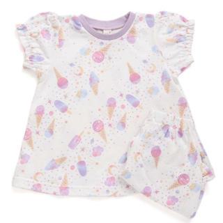 エフオーキッズ(F.O.KIDS)のアプレレクール  アイスクリーム パジャマ かぶり 半袖 五分丈(パジャマ)