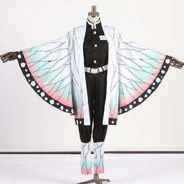 胡蝶 しのぶ 衣装 作り方 鬼滅の刃の胡蝶しのぶの子供用ごっこ(コスプレ)服の作り方
