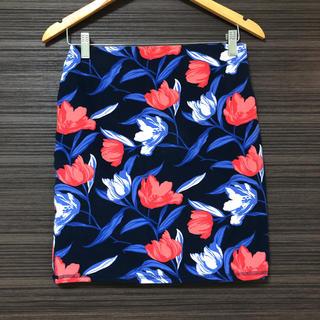 オールドネイビー(Old Navy)のoldnavy ミニタイトスカート 花柄 Sサイズ 美品(ミニスカート)