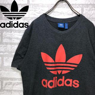 アディダス(adidas)の【古着】アディダス トレフォイルロゴ デカロゴ 古着男子 古着女子 ビンテージ(Tシャツ/カットソー(半袖/袖なし))