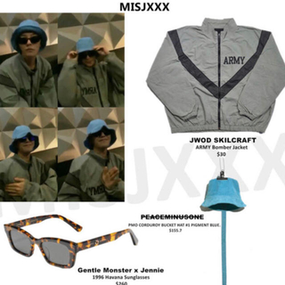 ピースマイナスワン(PEACEMINUSONE)のジヨン着用 peaceminusone ミリタリー ARMY ジャケット(ミリタリージャケット)