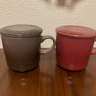 ルクルーゼ(LE CREUSET)のルクルーゼ 蓋付き ペアマグカップ(食器)