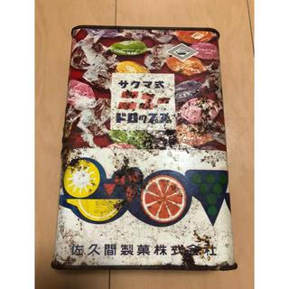 サクマドロップ 古いブリキ缶(その他)