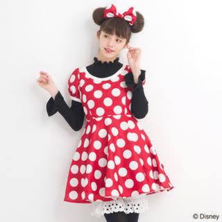 シークレットハニー(Secret Honey)のシークレットハニー ミニー  仮装 ドット 水玉 ワンピース ドレス 赤 正規品(衣装一式)