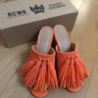 ロデオクラウンズ(RODEO CROWNS)のロデオクラウンズ  RCWB サンダル フリンジ タッセル スウェード(サンダル)