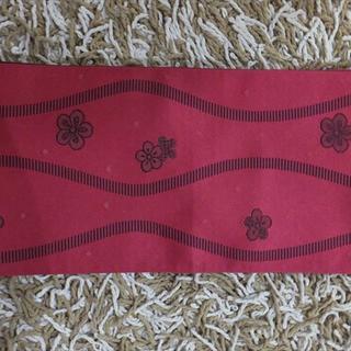 梅柄半幅帯★赤 (浴衣帯)