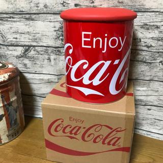 コカコーラ(コカ・コーラ)のCoca-Colaストレージ缶(スツール)
