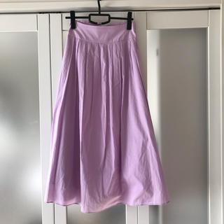 グーコミューン(GOUT COMMUN)のグーコミューン フレアスカート パープル  38サイズ(ロングスカート)