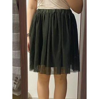 アフリカタロウ(AFRICATARO)の激安!!プリーツスカート グリーン 緑 膝丈 レディース 美品(ひざ丈スカート)
