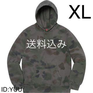 シュプリーム(Supreme)の【XL】SUPREME Overdyed Hooded Sweat 黒カモ(パーカー)