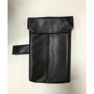 尺八袋 二分割用 黒合皮 ハンドメイド(尺八)
