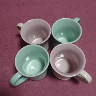 ルクルーゼ(LE CREUSET)のル・クルーゼマグカップ(ミント&コットンピンク)4点セットお値下げ❣️(食器)