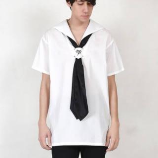 ミルクボーイ(MILKBOY)のmilkboy MARINE SHIRTS セーラーシャツ ホワイト(シャツ)
