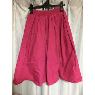 ピンクスカート(ひざ丈スカート)