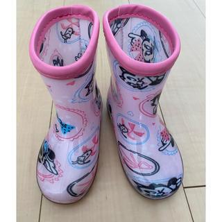 ディズニー(Disney)のdisney ミニーマウス 長靴 レインブーツ 14㎝(長靴/レインシューズ)