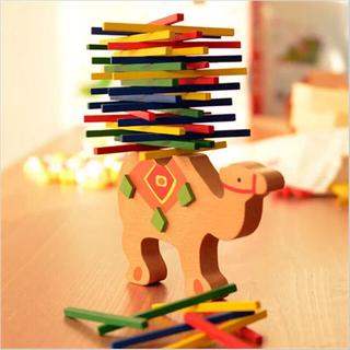 ラクダ バランス ゲーム パズル 積木 モンテッソーリ 知育 木製 おもちゃ(知育玩具)