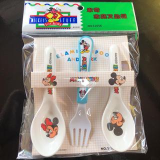 ディズニー(Disney)のミッキー ミニー レンゲ フォーク(スプーン/フォーク)