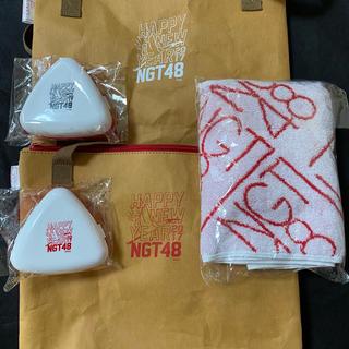エヌジーティーフォーティーエイト(NGT48)のNGT46 のエコバック、マフラータオル、おにぎりケース(エコバッグ)