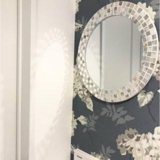 Francfranc - シェル モザイク ウォールミラー 壁掛け鏡 丸 円形 フランフラン風