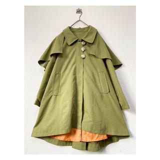 コムデギャルソン(COMME des GARCONS)のvintage ヴィンテージ レトロ ウグイス色 緑 変型 スプリングコート(ロングコート)