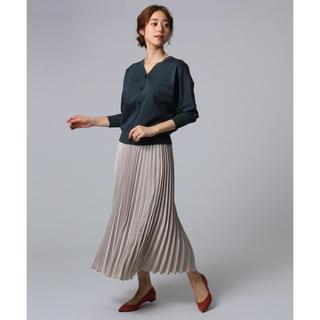 アンタイトル(UNTITLED)の【洗える】スウェード調サテン素材プリーツスカート(ロングスカート)