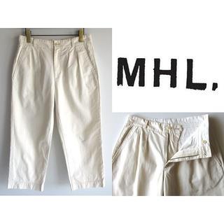 MARGARET HOWELL - MHL. マーガレットハウエル コットンツイル タックワイドパンツ チノパン 2