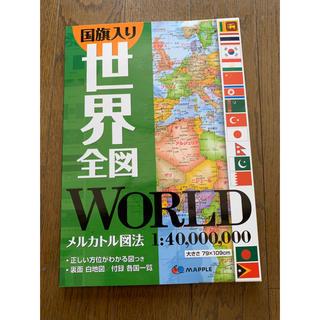 国旗入り世界全図(地図/旅行ガイド)