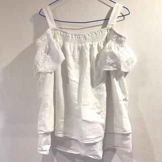 エイチアンドエム(H&M)の美品❣️h&m オフショルダー マタニティ トップス 授乳服(マタニティトップス)