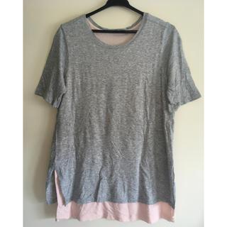 ビンス(Vince)のVINCE Tシャツ XS グレー ジム ヨガ(Tシャツ(半袖/袖なし))